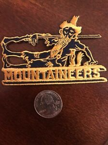 """Appalachian State Mountaineers  RARE Embroidered Iron On Patch 3.5"""" X 2"""""""