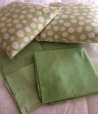 Bed Sheets Full Set Lime Green Flat Fitted Sheet Cases 2 Decor Pillows Spring