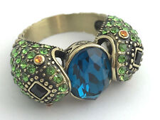 "Heidi Daus ""Spellbinding Snake"" Crystal and Ring, Size 11, New"