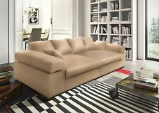 Big Sofa Couchgarnitur Megasofa Riesensofa AREZZO - Kunstleder Creme