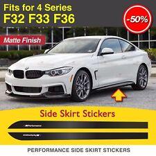 2x M Performance Leistung Seitenschweller Aufkleber für BMW F32 F33 F36 4er MATT