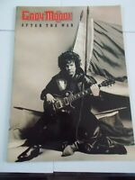 GARY MOORE AFTER THE WAR TOUR PROGRAMME &TICKET HAMMERSMITH