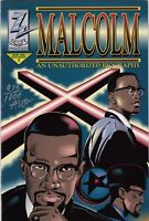 MALCOLM X: AN UNAUTHORIZED BIOGRAPHY (1992 Series) #1 BAGGED Near Mint Comics