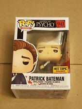 Funko Pop American Psycho  Patrick Bateman #942 hot topic exclusive preorder