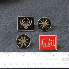COIL: set of 4 metal pins - scatology chaos black sun star logo