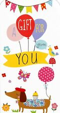 """Money Gift Voucher 3 Fold Card """"A Gift For You""""(6 CARDS)"""