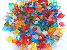 Lego 50 transparente Schrägsteine 54200  1x1   grün blau rot gelb  orange klar