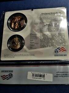 2007 James Madison Presidential $1 Coin & First Spouse Medal Set