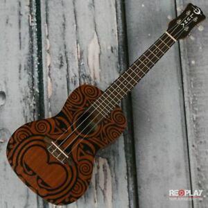 Luna Tribal Concert Mahogany Uke, Satin Natural