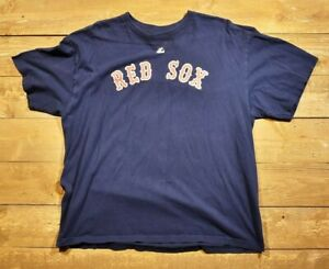 Boston Red Sox MLB baseball T-shirt two XL majestic number 8 Yastrzemski used