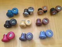 NOS Pair 2 Cateye Rubber Handle Bar End Plugs Caps Japan Expanding Velox Style