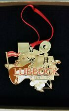 Lubbock Texas Christmas Ornament 2009(?) Ttu Buddy Holly 3D golden Ln 200204