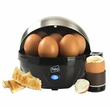 Neo Stainless Steel Electric Egg Cooker Boiler Poacher & Steamer Fits 7 Eggs