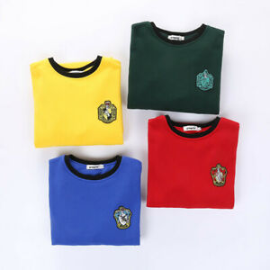 Harry Potter Hogwarts School Sweater Embroidery Logo Uniform Hoodie Round Neck
