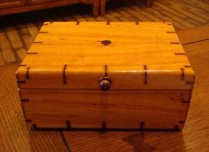 Solid Wood Handmade Box - Polish Oak, Black Walnut & Red Oak - Travis W. West