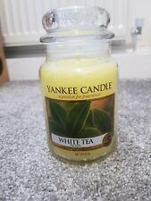YANKEE CANDLE LARGE JAR, WHITE TEA