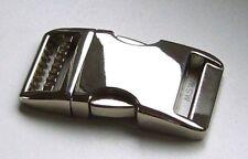 Edler Metall klickverschluß Aluminium vernickelt 20mm mit Versteller