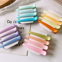 4x Candy Color Women Hairpin Barrette Duckbill Hair 2020 Clips new J1H2