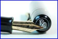 PELIKAN 100N green-marbled Pen  flexible B Nib in 14K 585 Gold approx 1956