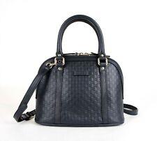 Gucci Dark Blue Micro-guccissima Leather Small Dome Crossbody Bag 449654 4009