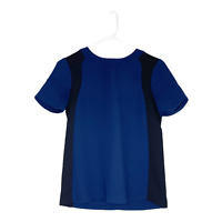 J Crew Women's Short Sleeve Color Block Crepe Top Pullover Blue Black Size 00