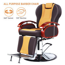 Barber Chair Adjustable Salon Shampoo Hydraulic Recline Equipment Pvc Leather