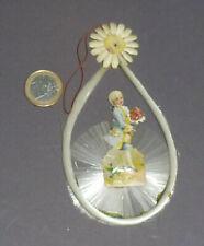 Alter Christbaumschmuck Oblate mit Glasseide A