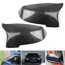 Pair Carbon Fiber Door Side Spiegelkappen Caps Fit For BMW F10 2014-16 AH