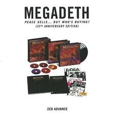 MEGADETH Peace Sells... But Who's Buying promo advance 2CD