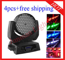 4pcs 108*3W RGBW Led Moving Head Light DJ Stage Wash Flight Case Free Shipping