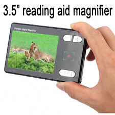 """Portable 3.5"""" LCD Pocket Electronic Video Magnifier For Low Vision Read Aid"""