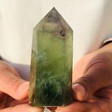 161G Natural Green fluorite pillars Crystals Quartz Healing Sphere Reiki stone