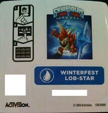Winterfest Lob-Star Skylanders Trap Team Sticker / Code Only!