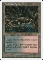 3x Sulfurous Springs 7th Edition Seventh mtg Magic the Gathering NM