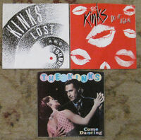 LOT of 3 KINKS 45rpm Picture Sleeves (ONLY) NO 45s!!