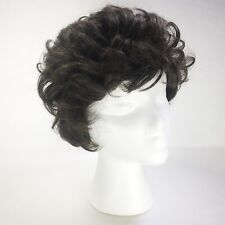 Vintage Sassi By Vidal Sassoon Wig Short Curls Mod Dark Brown 1972 With Box