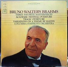 Bruno Walter - Brahms Academic & Tragic Overture LP VG+ MS 6868 CBS Stereo