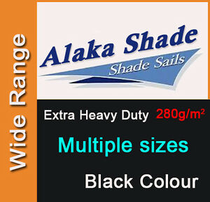 Extra Heavy Duty Shade Sail Shade Cloth Black Sun Triangle Square Rectangle Dark