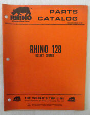 Rhino 128 Rotary Cutter  Parts Catalog Manual Book Original Servis