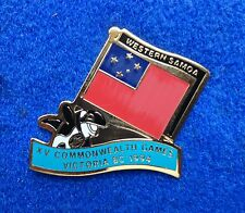 Western Samoa Colorful Country Flag ~ Orca Killer Whale Tack Back Lapel Pin