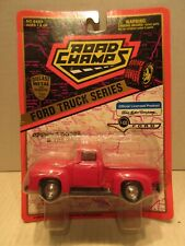 Road Champs Ford Truck Series 1/43 Scale F-100 1956 Red Diecast Toy Vehicle