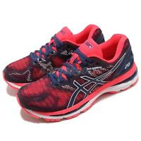 Asics Gel-Nimbus 20 Blue Fuchsia Pink Womens Running Shoes T850N-400