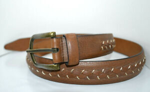 Johnston & Murphy Brown 75-3457 Leather Belt size38