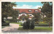 GREEN SPRINGS OH 1929 Long Gone Beautiful Elmwood Inn VINTAGE OHIO GEM+++ rl448