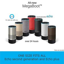 Battery Base for Amazon Echo 2nd Generation and Plus | MegaBoot | Over 24h