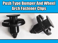 10x CLIPS FOR NISSAN MITSUBISHI TOYOTA PUSH TYPE BUMPER WHEEL ARCH BLACK PLASTIC