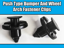 10x CLIPS FOR NISSAN MITSUBISHI TOYOTA PUSH TYPE BUMPER WHEEL ARCH BLACK PLASTIC