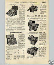 1940 PAPER AD Kennedy Tool Chest Box All Steel Bighorn Machinists'
