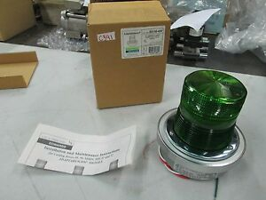 Edwards Adapta Beacon Cat# 500G-N5-40W Flashing Light 120 VAC/60 Hz Green (NIB)