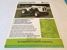 Howard BOLENS XI Garden & Lawn Tractors Original 1970s Rare Vintage Brochure